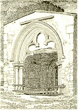 Etching of South Porch 1817 - St. Mary's, Old Hunstanton