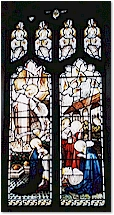 Window showing Bible scenes - St. Mary's, Titchwell